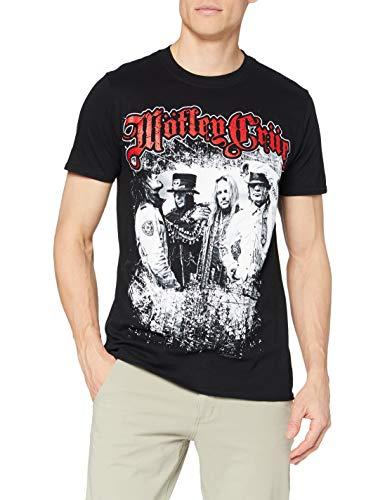 Rock Off Motley Crue Greatest Hits Bandshot T-Shirt, Noir-Noir, Small Homme