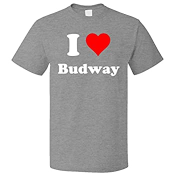 ShirtScope I Love Budway T Shirt I Heart Budway Tee XL Heather Grey