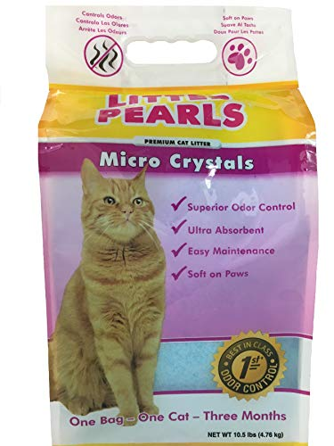 Litter Pearls Micro Crystals Non-Clumping Crystal Cat Litter
