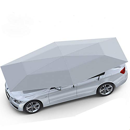 """Senllen Car Tent Fully Automatic 189"""" Large Size Hot Summer Anti-UV Wireless Control Vehicle Umbrella with Removable Charger,Multifunction Carport Sunshade for Outdoor Camping Fishing"""