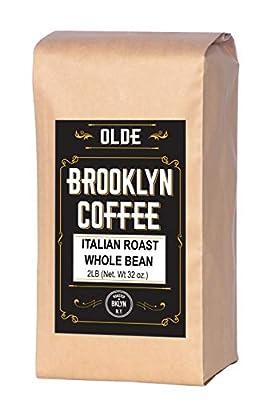 Italian Dark Roast Whole Bean Coffee - 2LB Bag For A Classic Black Coffee, Breakfast, House Gourmet, Italian Espresso- Roasted in New York