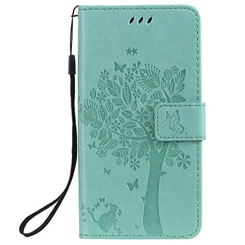 HUANGTAOLI Cover per Samsung Galaxy A20e, Cover a Libro con Funzione Stand e Porta Carte Chiusura Magnetica Portafoglio (SM-A202F, SM-A202F/DS, 5.8')