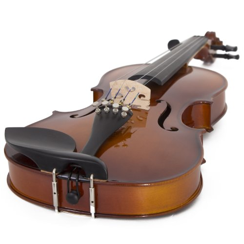 Cecilio CVN-300 Solidwood Ebony Fitted Violin with D'Addario Prelude...
