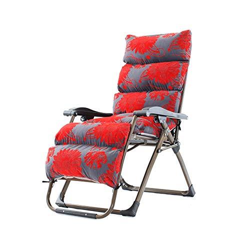 Bseack Chaises Longues, Fauteuil Pliant Design Ergonomique Ajustement Semi-Automatique Peut s'asseoir, Peut s'allonger pour Balcon Jardin (Couleur : B)