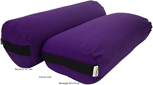 Bean Products Purple - Cotton Rectangular Yoga Bolster
