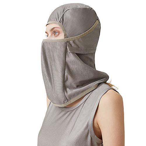 EMF-Abschirmung Kopfabdeckung Für Elektromagnetische Strahlung, Kopfhaube Aus 100% Silberfaser, Mobiltelefon, Computer, Fernseher, WIFI-Strahlenschutz,L