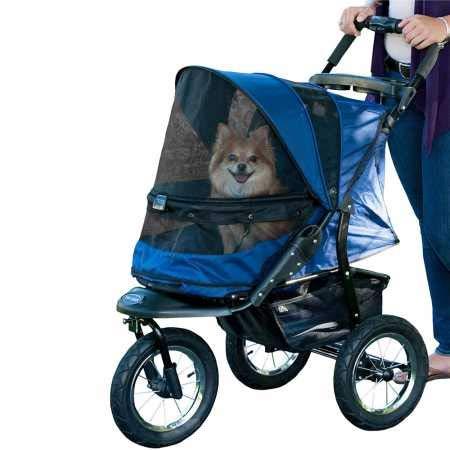 Pet Gear No-Zip Jogger Pet Stroller, Zipperless Entry, Midnight River