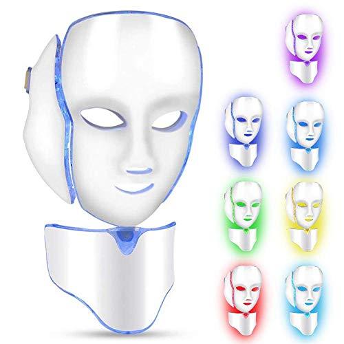 LED maschera viso collo anti rughe acne rimozione pelle ringiovanimento macchina 7 colori luci viso salone strumenti skincare approvato dalla FDA(#2)