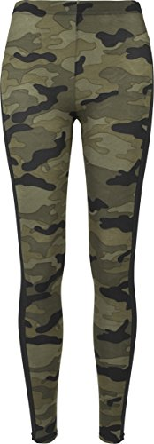 Urban Classics Ladies Camo Stripe, Leggings para Mujer, Multicolor (Woodcamo/Blk 00459),3XL