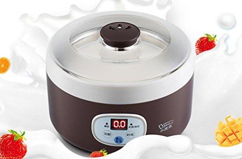 DZW Creatore di Yogurt Digitale Maker Pure Yogurt 1L Rivestimento in acciaio inox Con 4 barattoli di yogurt. | Yogurt da 24 ore automatico - Yogurt naturale 100% naturale a due colori Mangiare sano