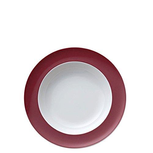 Assiette Creuse Thomas Sunny Day, Soupe, Pâtes, Porcelaine, Fuchsia / Rouge, Compatible Lave-Vaisselle, 23 cm, 10323