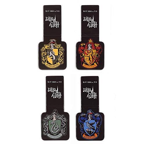 Ata-Boy Harry Potter Häuser von Hogwarts Wappen Set von 4 magnetischen Lesezeichen 2,5 cm