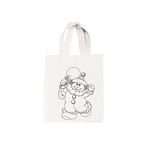 Rayher 3822900 Baumwoll-Tasche, bedruckt, beige, 25x21 cm, Clown