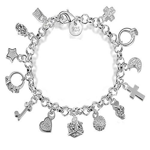 BGQ 925 pulsera de plata de las señoras de la