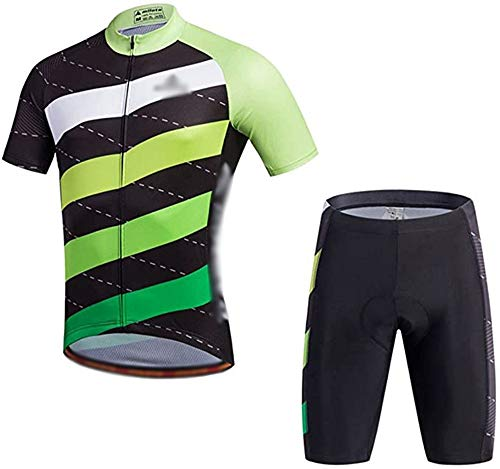GONGMICF Hombre Ciclismo Maillot,Transpirable Traje Ciclismo Reflectante Maillot Ciclismo + 3D Acolchado...