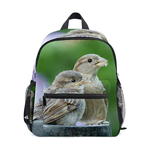 Kleine Schultasche Tier-Vogel-Spatz sperling Rucksack für Mädchen Jungen Kinder Mini Reise Tagesrucksack Grundschule Schüler Büchertasche