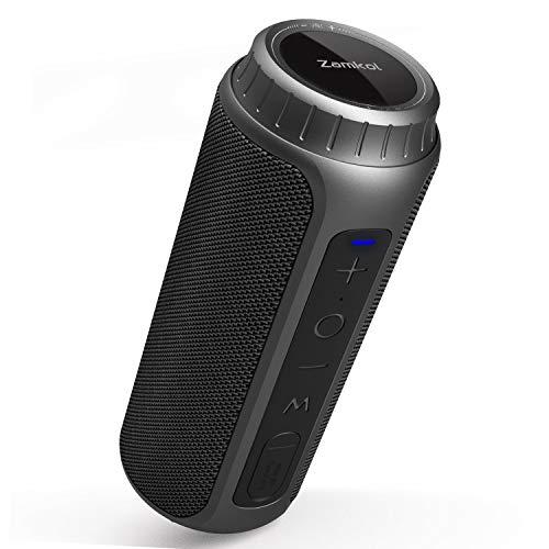 Zamkol 5.0 Bluetooth Lautsprecher, 6600mAh Wireless Lautsprecher, 30W Lautsprecher, IPX6 wasserdichter tragbarer Stereo, 360° Bass Sound Bluetooth Speakers, Eingebautes Mikrofon staubdicht Stoßfest
