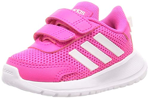 Adidas TENSAUR Run I, Zapatillas Running Bebé Unisex, Gris Shock Pink FTWR White Shock, 20 EU