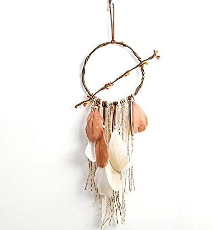 Light Dream Catcher Manual Traditional Feather Dream Chaser Wall-Mounted Home Decor Wedding Party Decoration Craft Gift Girl Bedroom Dream Catcher Dream Catcher blue