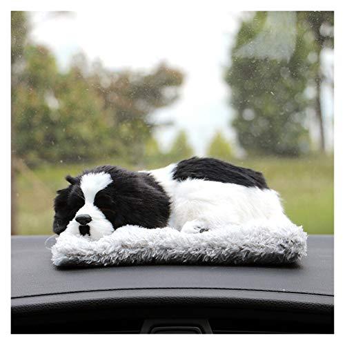 Yubingqin Adorno de coche lindo simulación de peluche perro dormido gato juguete bambú bolsa purificador de aire decoración ambientador creativo regalo (color : perro pastor)