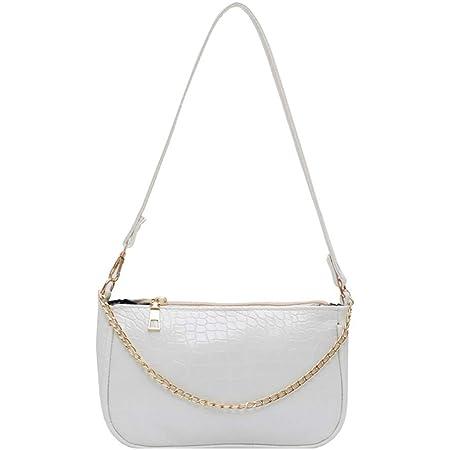 Damen Schultertasche Krokodilmuster Leder Unterarm-Paket Frauen Clutch Bag, Retro Krokoprägung Schultertasche Handtaschen Bag Vintage Handtaschen