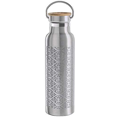 Lotuscrafts Trinkflasche Edelstahl [600 ml] Doppelwandig - 100% Dicht & Auslaufsicher für Yoga, Sport und im Alltag - Nachhaltig & BPA frei - Thermosflasche für Warme & Kalte Getränke