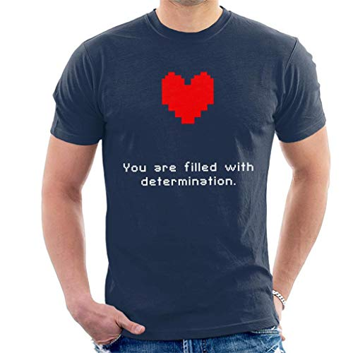 Cloud City 7 Undertale Heart You Are Filled with Determination Men's T-Shirt