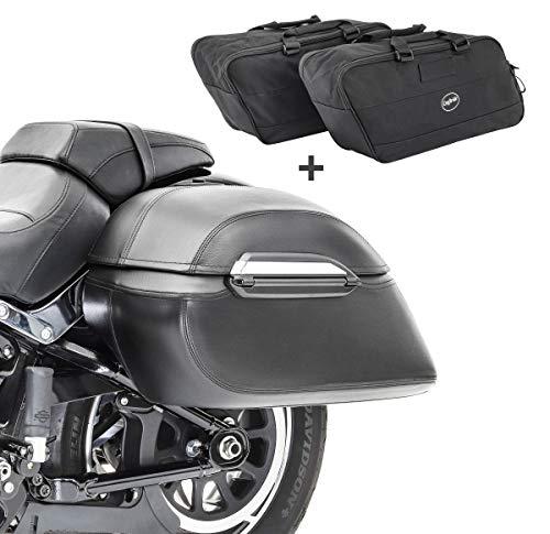 Set Borse Laterali Rigide + Borse interne per Moto Guzzi Nevada 750 K3