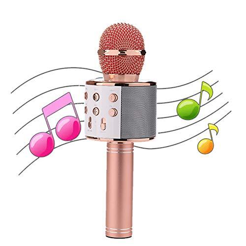 Karaoke Bluetooth microfoon voor volwassenen en kinderen, compatibel met Android/PC Or Smartphone