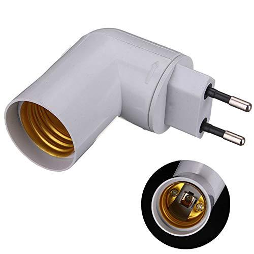 MZY1188 Steckdosenadapter, EU-Stecker PP auf E27-Sockel LED-Licht Lampenfassung Lampenadapter Konverter Schraubfassung mit EIN- / Ausschalter