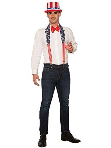 Forum X80932 USA Patriotic Collar Plus Hosenträger-Set, Rot/Blau/Weiß, Einheitsgröße