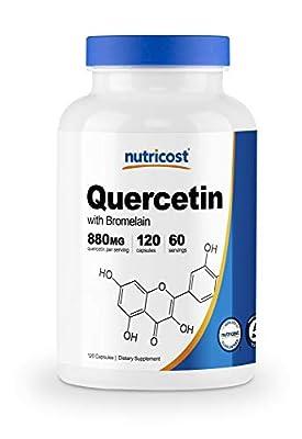 Nutricost Quercetin 880mg, 120 Capsules with Bromelain - 60 Servings, Veggie Capsules, Non-GMO & Gluten Free