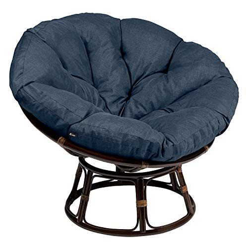 Classic Accessories Montlake Water-Resistant 50 Inch Papasan Cushion, Heather Indigo