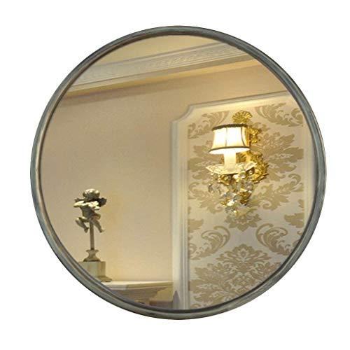 DERUKK-TY Artículos para el hogar y espejo de pared redondo europeo espejo de baño retro porche de maquillaje ovalado (color : C) (color: G)