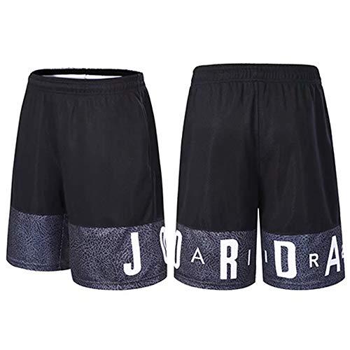 HEJX Pantalones Cortos de Baloncesto Pantalones Cortos de Entrenamiento Jordan Elite Transpirables y de Secado rápido para Hombres y Mujeres, niños