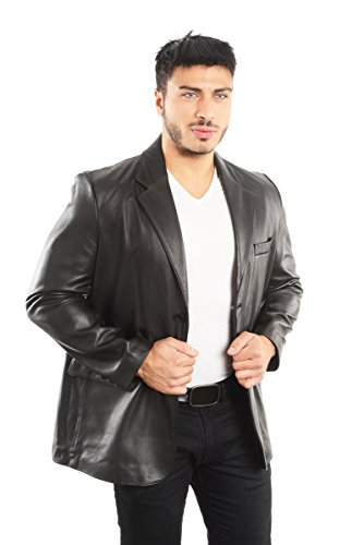 REED Leather Blazer Jacket (Imported) (Large) Black