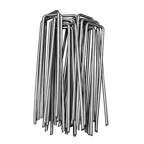 CampAir grondanker van verzinkt staal - extra stabiel - 150 mm lang, 30 mm breed, Ø 4 mm 500 Stück