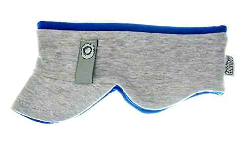 Stirnband Kinderstirnband Jungen Stirnband Babystirnband mit Ohrenverbreiterung 4 Farben Baumwolle (48/50 L, Grau/Blau)