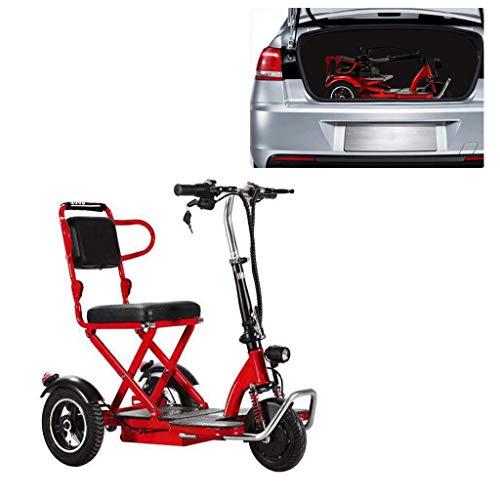TTFC Scooter Minusvalidos,Scooter Eléctrico de 3 Ruedas, Plegable, 300 W, 20 Km/H, Ajuste De 3 Velocidades, Adecuado for Personas Mayores, Discapacitados, 55km