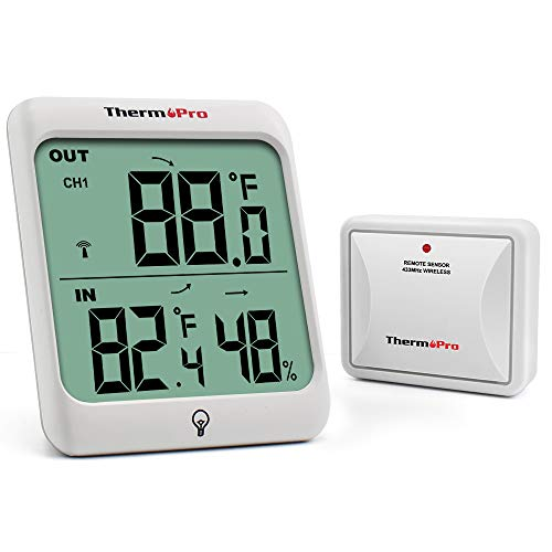 ThermoPro TP63 Digital Wireless Hygrometer Indoor Outdoor Thermometer Wireless Temperature and...