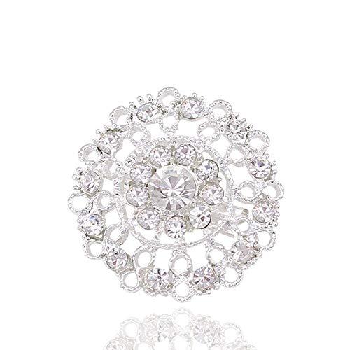 QWERTY Gran Promoción Broches para Mujeres Hombres con Piedra de Plata Femme Broche Accesorios de Disfraz Femenino Rhinestone para la Ropa Chaqueta Pin