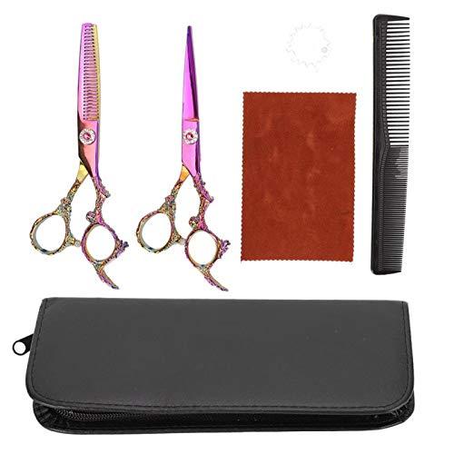 Tijeras de corte de pelo duraderas antideslizantes de acero inoxidable, cizalla de peluquero anticorrosión, uso doméstico personal resistente para peluquería