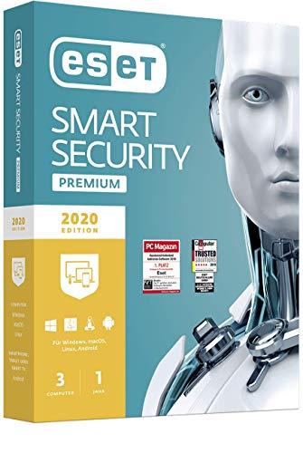 ESET Smart Security Premium 2020 | 3 Geräte | 1 Jahr | Windows (10, 8, 7 und Vista), macOS, Linux und Android | Download