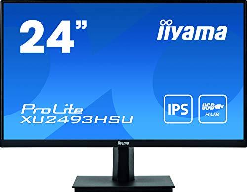 "Ecran iiyama 24"" ProLite XU2493HSU-B1 Ultra Mince, IPS FHD@75Hz VGA/DP/USB-HUB 2.0 flicker free, blue light, speakers"