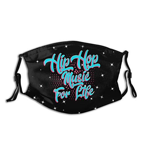 Hip Hop Music For Life Portable Shield, Comfortable Material, Universal For Adults, Washable