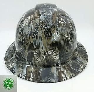 Wet Works Imaging Customized Pyramex Full Brim Kryptek Camo Hard Hat With Ratcheting Suspension