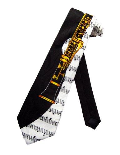 Clarinet Woodwind Band Neck Tie Necktie