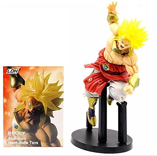 Juego De Anime Dragon Ball Broly Broly Figura De Acción Super Saiyan Broly Dragon Ball PVC Juguetes Figura De Acción Modelo 19Cm, Regalos Y Coleccionables para Niños