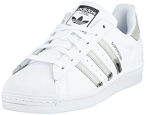 adidas Superstar, Sneaker Mujer, Cloud White/Silver Metallic/Core Black, 41 1/3 EU