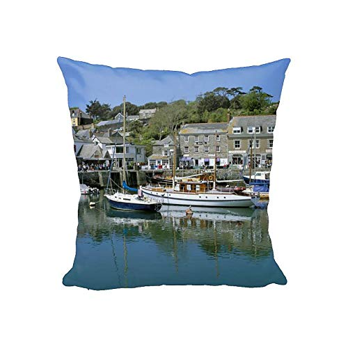 robertharding 12x12 Cushion of Padstow harbour, Padstow, Cornwall, England, United Kingdom, Europe (1145699)